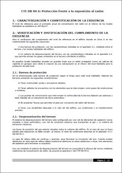 CYPEDOC CTE HS 6. Protección frente a la exposición al radón